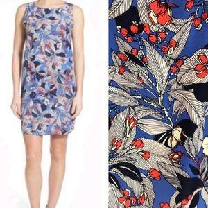 Halogen Blue Floral Shift Dress